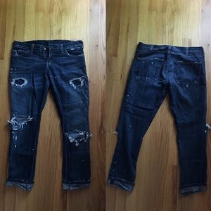 Current/Elliott distressed skinnies